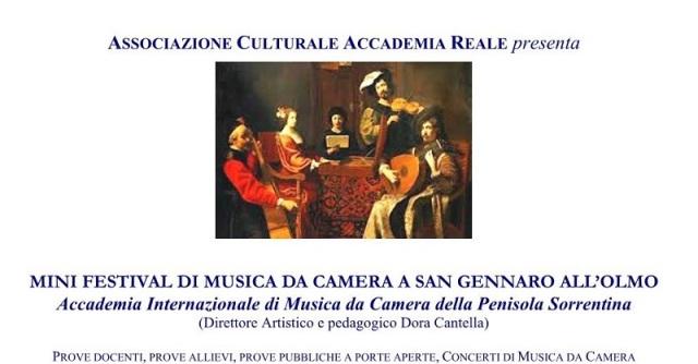 Locandina Mini Festival Musica da Camera