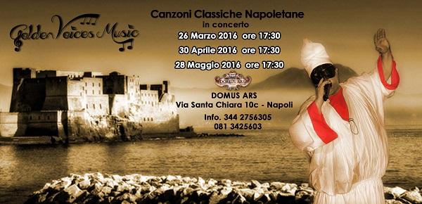 Locandina musica napoletana alla Domus Ars