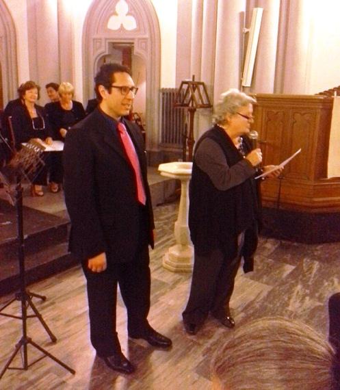 Angelo Maria Trovato (Premio Giuria) con il direttore artistico Luciana Renzetti - Foto Max Cerrito