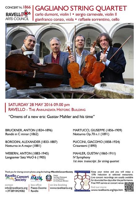 Locandina Concerto Gagliano String Quartet