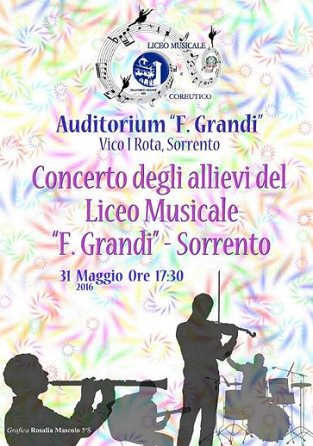 Locandina Concerto LIceo Musicale Sorrento