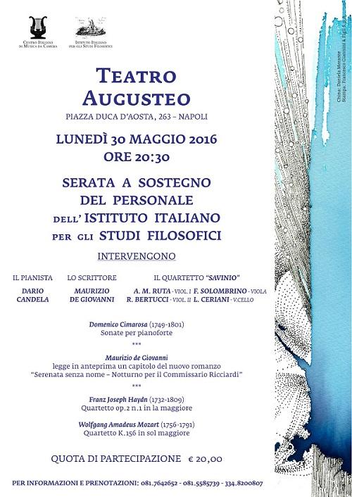 Locandina Concerto per Istituto Studi Filosofici