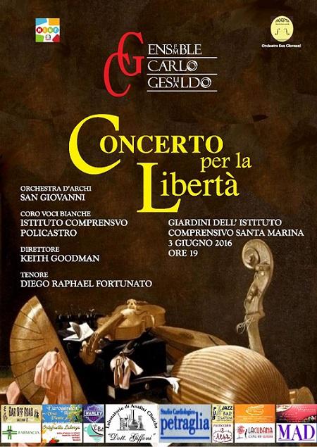 Locandina Concerto per la Libertà
