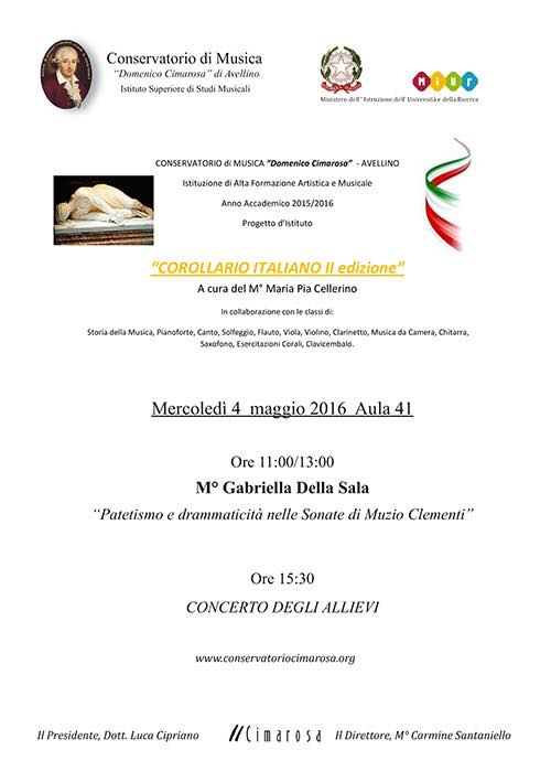 Locandina Corollario Italiano
