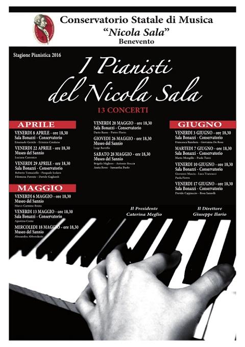 Locandina I Pianisti del Nicola Sala