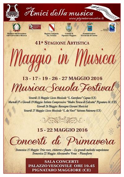 Locandina Maggio 2016 Amici Musica Pignataro