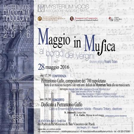 Locandina Mysterium Vocis 28 maggio