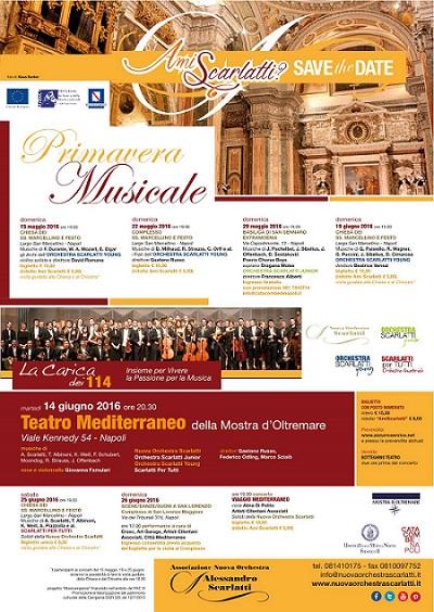 Locandina Primavera Musicale Nuova Orchestra Scarlatti