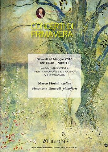 Locandina Programma 26 Maggio Primavera Avellino
