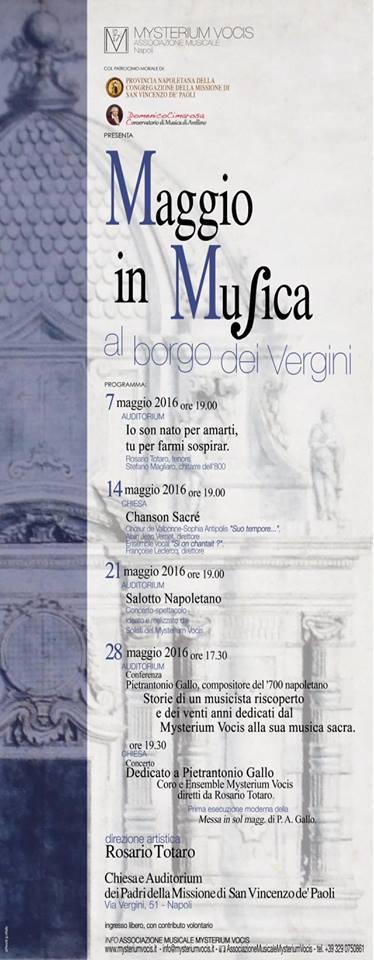 Locandina rassegna Mysterium Vocis 2016