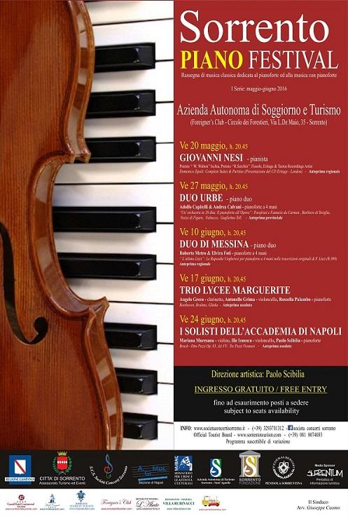 """Venerdì 20 maggio Giovanni Nesi inaugura il """"Sorrento Piano Festival ..."""