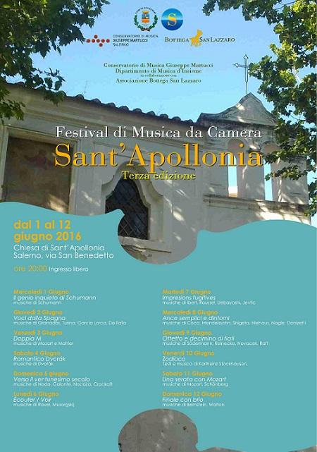 Manifesto Festival Sant'Apollonia