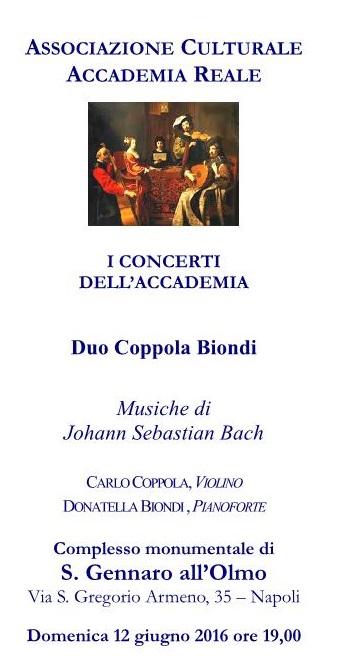 Locandina concerto duo Coppola-Biondi