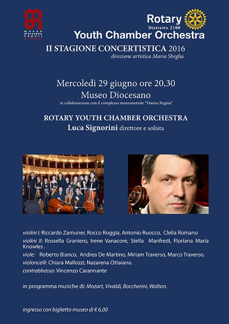 Locandina concerto Rotary Youth Chamber Orchestra