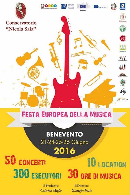 Locandina Festa della Musica Benevento