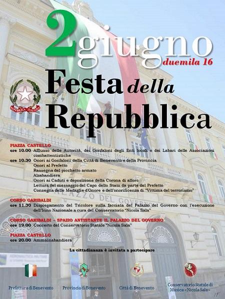 Manifesto Festa Repubblica Benevento