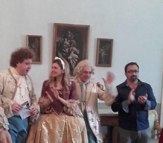 Da sinistra verso destra Angelo Bonazzoli, Ilaria Iaquinta, Rosario Natale e Giuseppe Zarbo