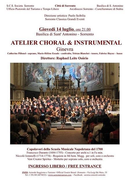 Locandina concerto Coro Atelier a Sorrento