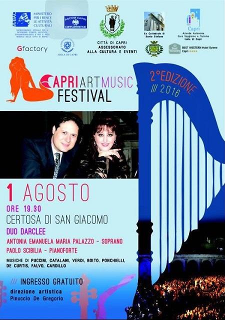Locandina concerto Duo Darclee a Capri