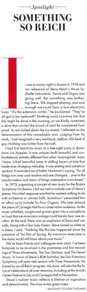 Steve Reich interview