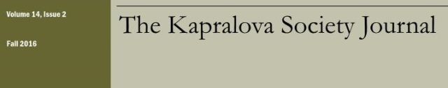 Copertina The Kapralova Society Journal