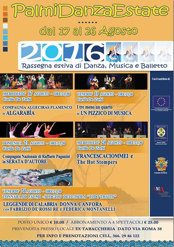 Manifesto Palmi Danza Estate 2016