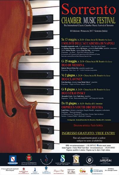 """Parte sabato 13 maggio la II edizione del """"Sorrento Chamber Music ..."""