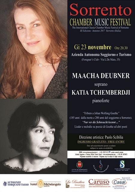 Gioved 23 novembre il duo deubner tchemberdji ospite del for Azienda soggiorno sorrento