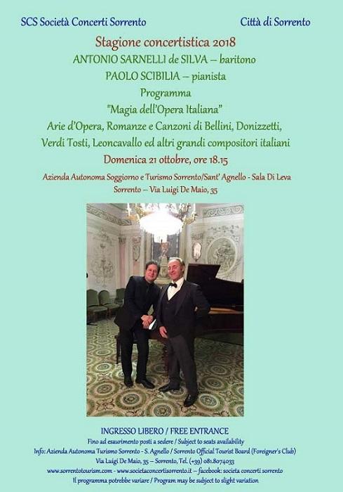 Il 21 ottobre a Sorrento in anteprima assoluta il concerto del duo ...